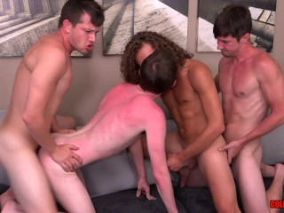 Hot 4-way with Colby Knox and their guests Levi Hatter and Jack Valor BAREBACK